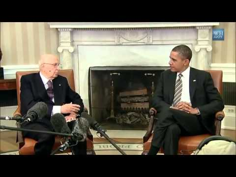 Video : President Obama's Bilateral Meeting with President Napolitano of Italy