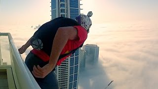 BASE jump into Downtown | Tall Building