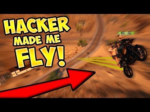 PUBG HACKER MADE MY VEHICLE FLY!! (HACK TROLLING)