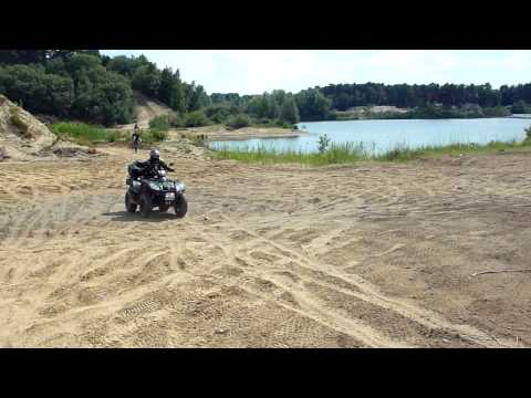 QUAD / ATV / KYMCO  MXU  500 IRS  OFFROAD  CRASH 12 JUNI  2011
