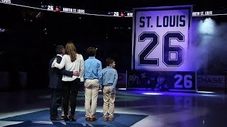 St. Louis' emotional story about Mom as jersey is raised to rafters