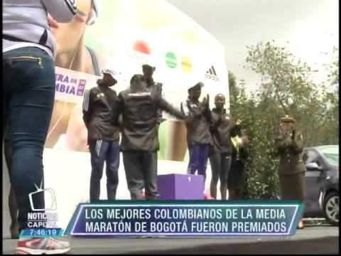 Los mejores colombianos de la Media Maratón de Bogotá fueron premiados