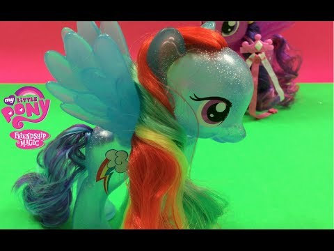 Rainbow Dash - My Little Pony Friendship is Magic - friends with Princess Twilight Sparkle