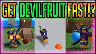 HOW TO GET DEVILFRUIT FAST!   One Piece Millenium   ROBLOX   Find Devilfruit Fast!?