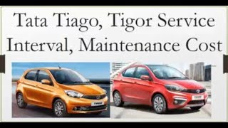 Tata Tiago, Tigor Service Cost with Maintenance Schedule in India