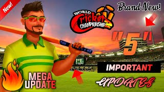 """🔥Wcc-2 """"5"""" Important & Fantastic Features! Coming in New Mega Updates 2019/20👌"""