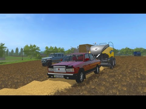 СОБЕРЕМ НА ВАЗ 2107 СЕНО В ТЮКИ? - FARMING SIMULATOR 2017