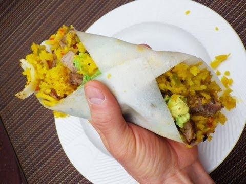 Paleo Wraps: Cauliflower Rice & Grass Fed Beef