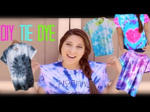 DIY Tie Dye! 4 Different Tie Dye Styles