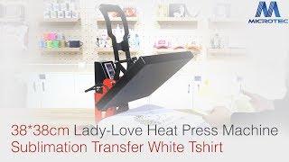 38*38cm Lady-Love Heat Press Machine Sublimation Transfer White Tshirt