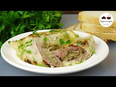 Мое любимое блюдо из мяса! Вкуснейшая телятина, запеченная под капустными листьями