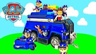 Paw Patrol Goes to Training School with Police Ultimate Rescue Cruiser