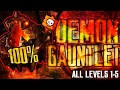 [DEMON GAUNTLET] ALL LEVELS 100% [LEVEL 1-5] - GEOMETRY DASH 2.1 [THE LOST GAUNTLETS] thumbnail