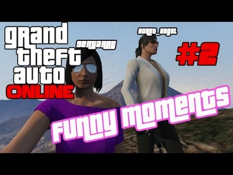GTA 5  [ GTA Online ] - Funny Moments #2 (Girls Fighting, Bike Ride Trust, and Clumsy Sentarry)