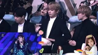 BTS react to Blackpink at Golden Disc Awards