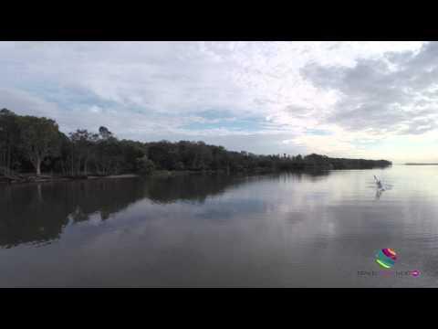 Epic Surf Ski Paddling Currimundi Lake Sunshine Coast Queensland Australia
