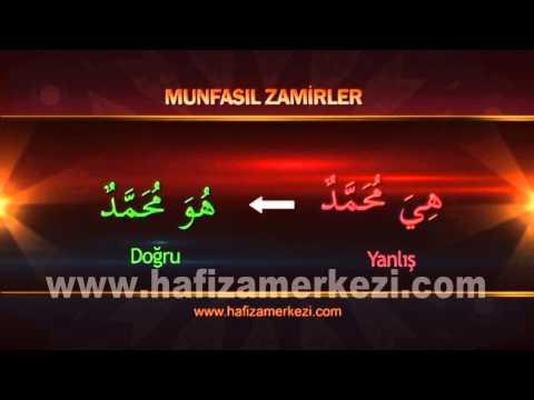 Arapça / Arapça Eğitimi / Zamirler - İşaret İsimleri Uygulama Video - 1