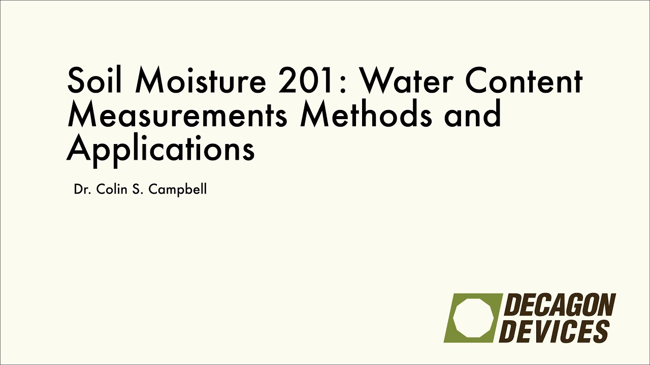Soil moisture 201 water content measurements methods and for Soil content