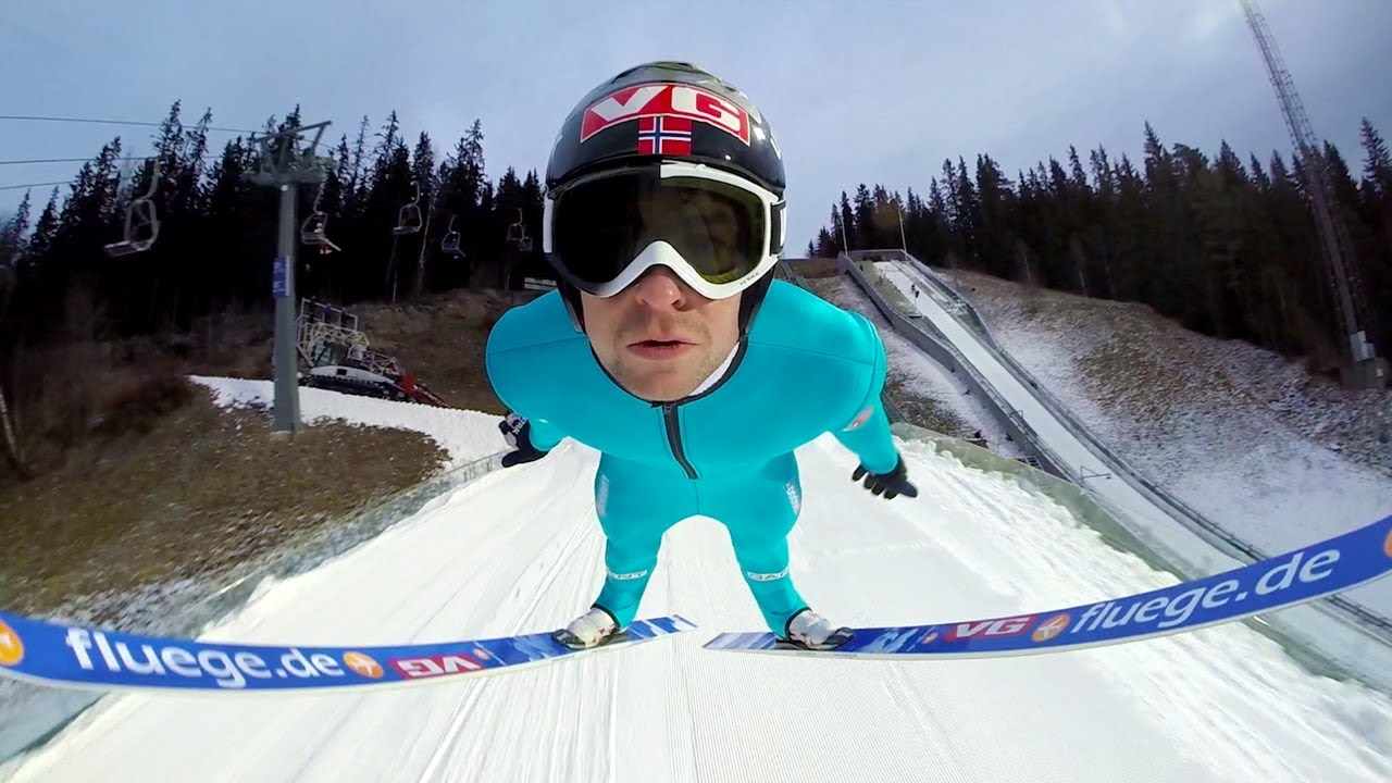 Gopro Ski Flying With Anders Jacobsen Youtube