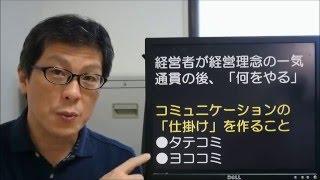 【①チームワーク】タテコミ(組織活性化7つの仕掛け) 南本静志氏
