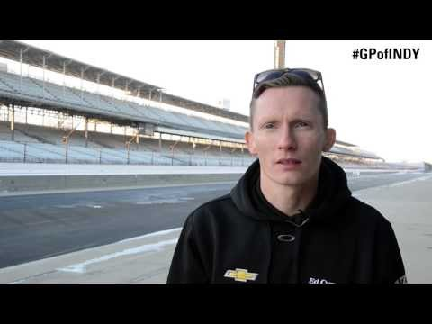 Mike Conway Takes A Lap On The New Grand Prix Of Indianapolis Circuit
