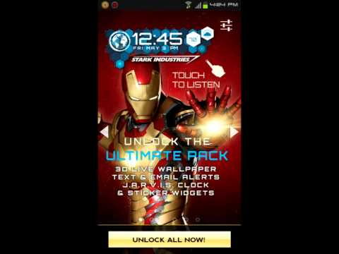 Iron Man 3D Live Wallpaper Premium Unlock