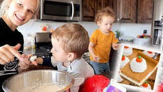 Bake With Me | Crazy Fall Recipe Ft. Kiddos