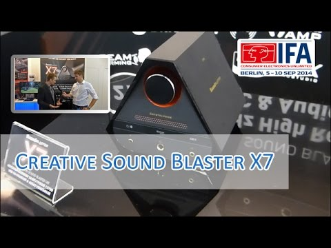 IFA 2014: Creative Sound Blaster X7 im Hands on [German/HD]