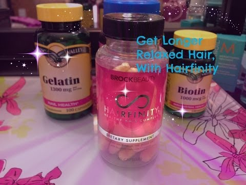 How To Grow Your Relaxed Hair   How to Use Hairfinity Vitamins