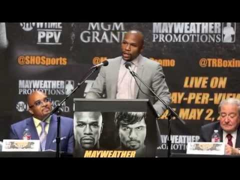 FLOYD MAYWEATHER v MANNY PACQUIAO - OFFICIAL PRESS CONFERNCE FROM LOS ANGELES. / MAY 2 @ MGM GRAND