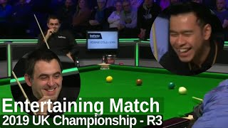 Ronnie O'Sullivan Looks Sharp and Enjoys the Match | 2019 UK Championship - Round 3