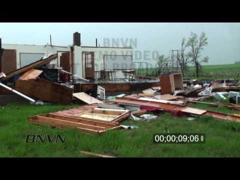 5/24/2010 Tornado Aftermath Stock Footage, Meadow, SD