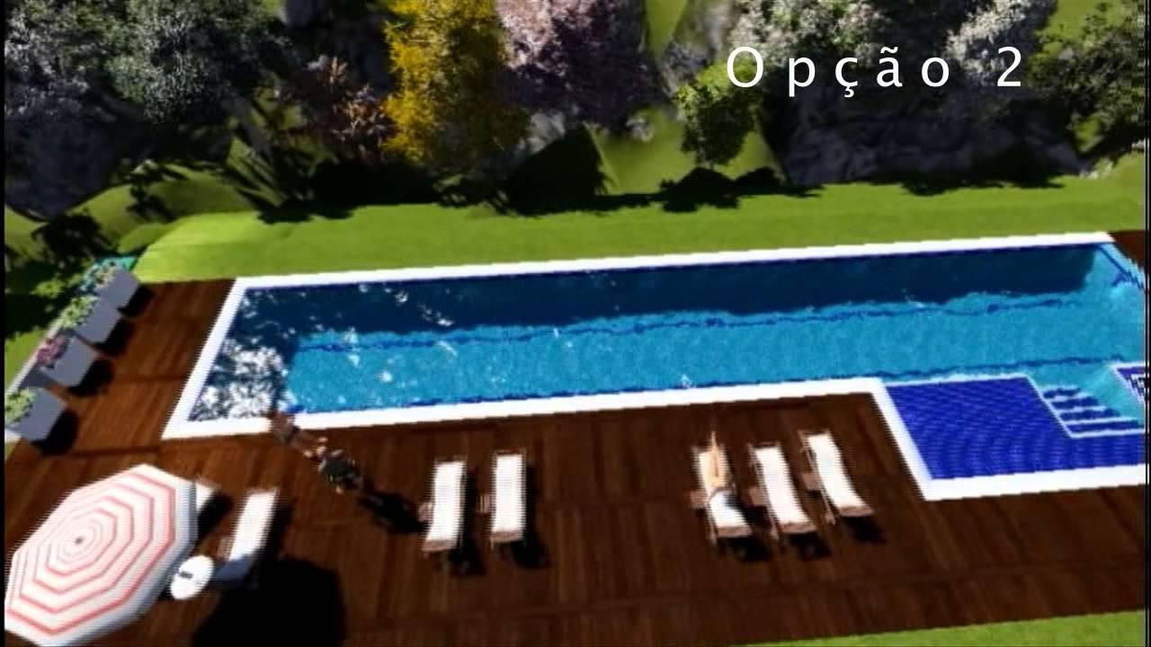 Projeto 18325 piscina em concreto armado youtube - Cemento para piscinas ...