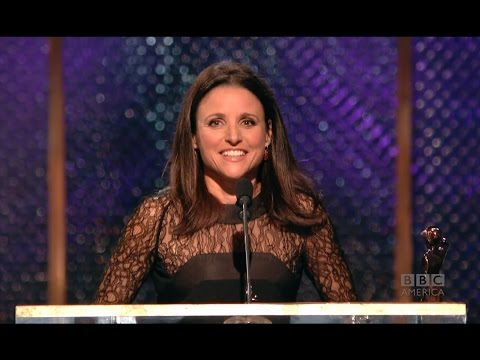 Julia Louis-Dreyfus Practices 'So Happy for Lena Dunham' Face - 2014 Britannia Awards on BBC America