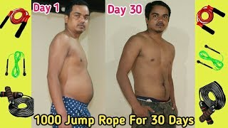 1000 Jump Rope For 30 Days !! Epic Body Transformation Fat to Fit | Skipping Workout