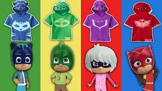 wrong shirt Pj masks learn colors with Pj masks kids costumes toys for kids - Cars for Kids Videos