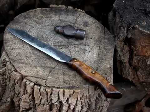 Cutting Test with a Railroad-Spike Knife