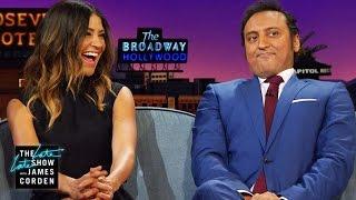 Jessica Szohr & Aasif Mandvi Talk Childhood Crushes