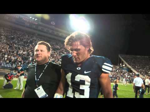 Riley Nelson as quarterback of the BYU football team highlights to the song rise up Riley.