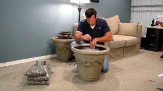 Installing a Standard Aqua Rock Fountain Kit in a Decorative pot