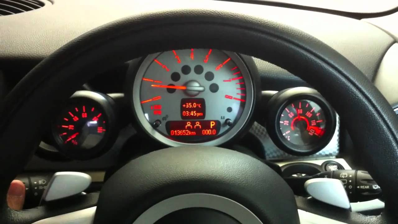 Auxiliary Gauge For Mini Cooper R56 Youtube