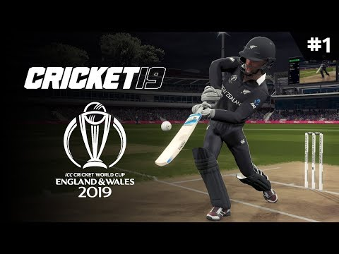 CRICKET 19 | WORLD CUP 2019 | GAME #1 (NZ VS SRI)