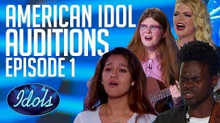American Idol 2018 ALL Auditions Episode 1 | Auditions By Catie Turner, Harper Grace & More...