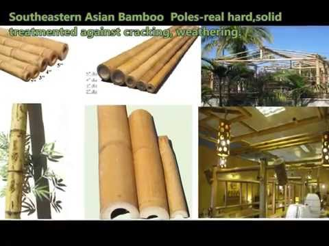 Bamboo material&products-for sale&for construction&green building-bamboo fencing,poles,wall covering
