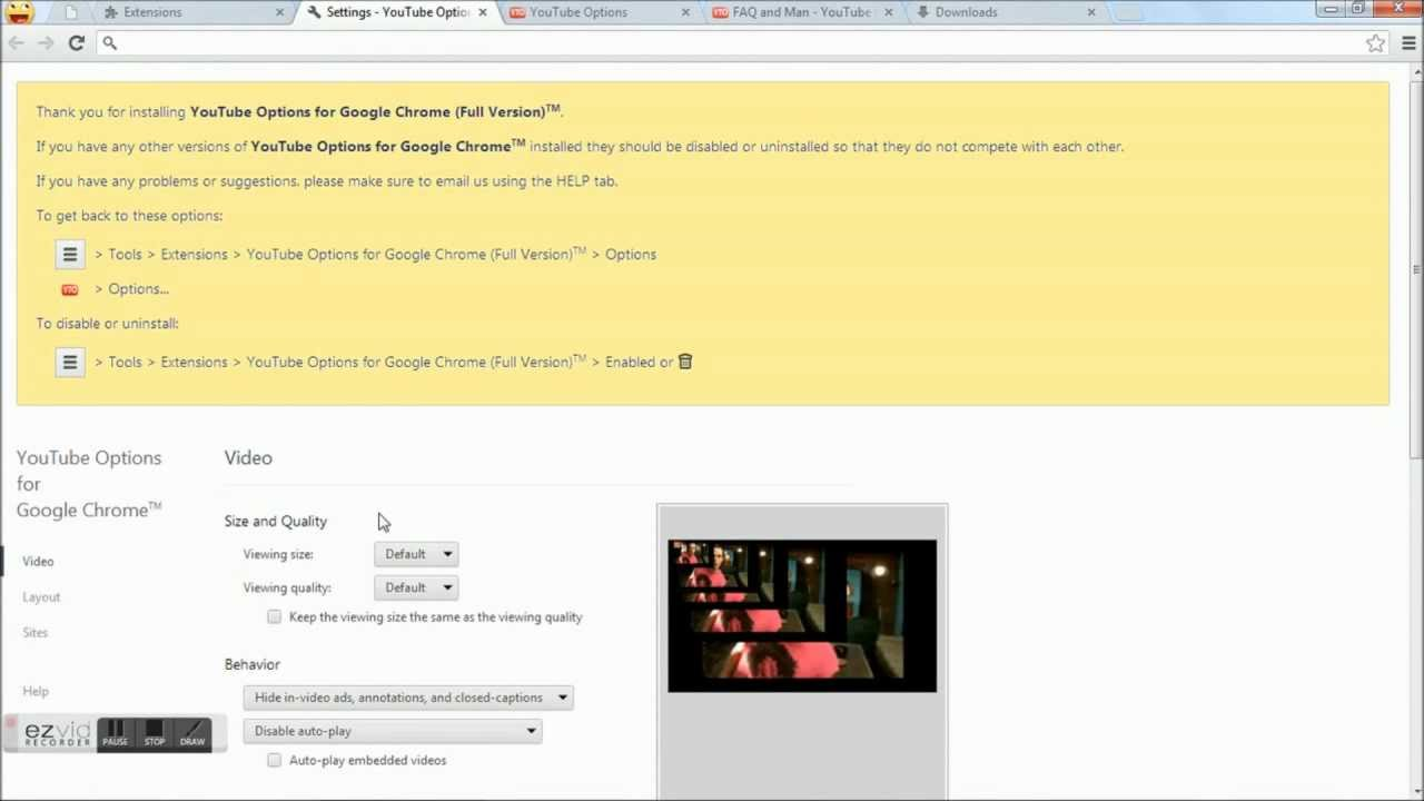 Youtube video download chrome add on