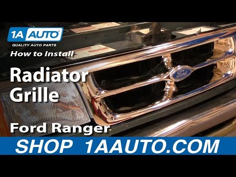 How To Install Replace Radiator Grille Ford Ranger 93-97 1AAuto.com
