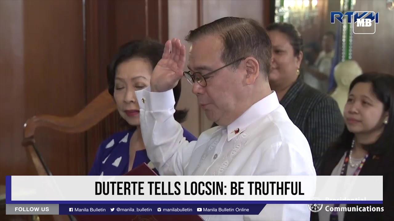 Duterte tells Locsin: Be truthful