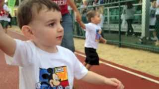 BABY! RunDisney! Kids 100m Race @ Walt Disney World Marathon Weekend! 2014