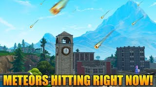 METEORS HITTING FORTNITE RIGHT NOW! - New Meteor Update - Fortnite Battle Royale Gameplay
