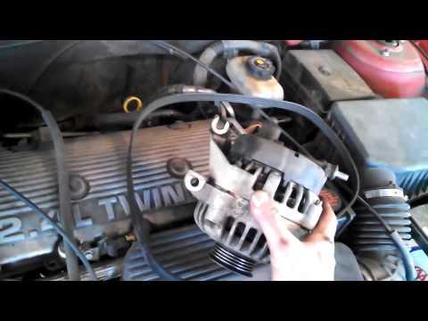 Alternator replacement Pontiac Grand Am 2.4L 1997 - 2001 Alero Malibu Install Remove Replace